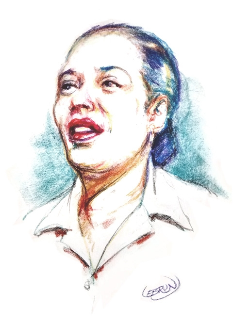 Billie Holiday by Lebrun